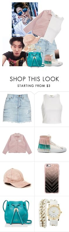 """BAE DAY WITH JAY."" by manfashionandstyle ❤ liked on Polyvore featuring Yves Saint Laurent, River Island, Chicnova Fashion, BUSCEMI, Casetify, Kate Spade, Charlotte Russe and Kendra Scott"