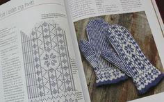 Knitted Mittens Pattern, Easy Knitting Patterns, Knit Mittens, Knitting Charts, Knitted Gloves, Hand Knitting, Scandinavian Pattern, Knit Crochet, Cross Stitch