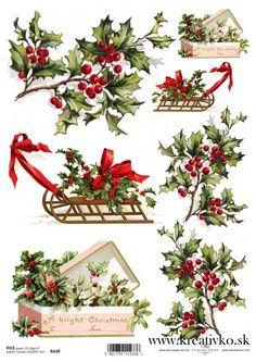 Details about Ricepaper/ Decoupage paper, Scrapbooking Sheets /Craft Paper… Noel Christmas, Christmas Paper, Christmas Pictures, Vintage Christmas, Christmas Crafts, Christmas Decorations, Xmas, Christmas Ornaments, Decoupage Tissue Paper