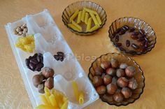 Сортируем фасоль, макароны, орехи