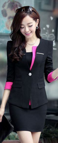 Blazer and Bodycon Skirt Office Set YRB0698
