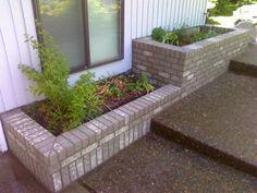 brick planter box - levels