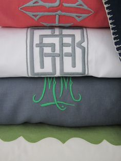 Julia B. Custom Monogramming for Bedding