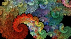awesome Colorful Spiral Abstraction
