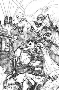 Batman and Robins by Brett Booth