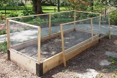 Protecting your raised bed from pests.