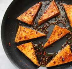 Sweet  Spicy Honey Glazed Tofu by emmaslittlekitchen #Tofu #Sweet #Spicy #Healthy