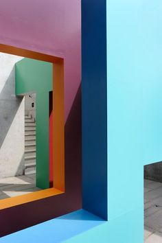 Architectural style installation by Krijn de Koning, looks almost like surrealist painting