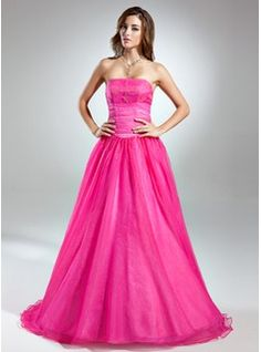 Prom+Dresses+-+$177.99+-+Ball-Gown+Strapless+Floor-Length+Organza+Prom+Dress+With+Beading++http://www.dressfirst.com/Ball-Gown-Strapless-Floor-Length-Organza-Prom-Dress-With-Beading-018015546-g15546