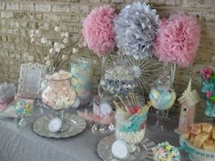 """Photo 2 of 17: Silver, white and pale pink / First Communion """"First Holy Communion Candy Buffet ~ girl"""" 