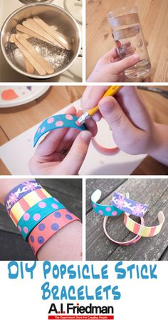 We haven't done any kids crafts yet for DIY With A.I. Friedman and it's time to change that.  Kids will have fun designing their own bracelets and it's cool to see the popsicle st…