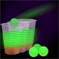 Glow in the dark beer pong party pack. Great for Memorial Day or 4th of July BBQs! http://giftsniffer.com/store/product/buy/70301677498859/glow-in-the-dark-beer-pong-party-pack/