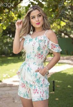 Ropa Summer Wear, Summer Outfits, Summer Dresses, Casual Dresses, Casual Outfits, Fashion Dresses, Jumper Shorts, Fashion 2017, Womens Fashion