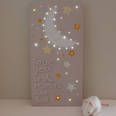 'Love You To The Moon And Back' LED Canvas