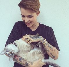 """Isn't she perfect?... """"You know what needs to stop just as much as homophobia, bullying within the LGBT Community... A 'bisexual' isn't just greedy... 'Pansexual' exists and isnt a cop out.. 'Straight' people can be huge gay advocates and blessings to the community..."""" ~ Ruby Rose"""