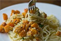 Pasta with Roasted Winter Squash and Ricotta Salata by Martha Rose Shulman
