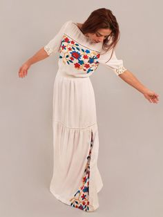 Boho wedding dress rustic wedding dress bohemian by Anaoiss