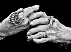 The Rosary...Mother had arthritis but that did not stop her from saying the Rosary and inspiring many of us to do the same. God Bless you Mother!