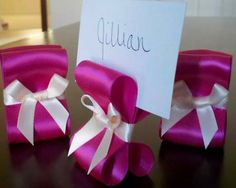 I can make those with a turquoise blue ribbon.  Super cute!   ~K.Scott Weddings