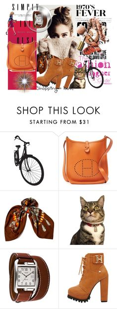 """""""selly"""" by selly111528 ❤ liked on Polyvore featuring Brewster Home Fashions and Hermès"""