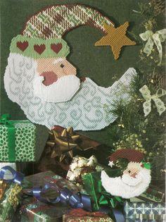 Santa in the Moon Plastic Canvas Pattern by needlecraftsupershop, $3.99