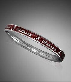 University of Alabama Red Stackable Bangle Bracelet