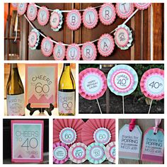 60th Birthday Party Decoration Ladies Milestone Birthday Cheers to
