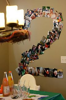 our number photo collage - lots of memories from his second year!