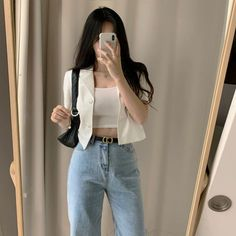Korean Girl Fashion, Korean Fashion Trends, Ulzzang Fashion, Korean Street Fashion, Kpop Fashion Outfits, Korean Outfit Street Styles, Asian Fashion, Korean Casual Fashion, Korean Casual Outfits