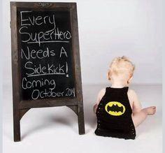 Cute second child announcement