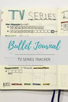 bullet journal tv series tracker!