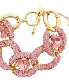 Betsey Johnson Iconic Pinkalicious Link Heart Toggle Bracelet #accessories  #jewelry  #bracelets  https://www.heeyy.com/suggests/betsey-johnson-iconic-pinkalicious-link-heart-toggle-bracelet-fuchsia/
