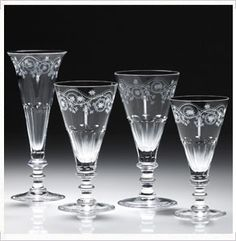 "William Yeoward Crystal ""Bunny"" Stemware Home - Bloomingdale's Cut Glass, Glass Art, Steuben Glass, Vintage Wine Glasses, Crystal Glassware, Elegant Table, Tableware, Barware, Drinkware"