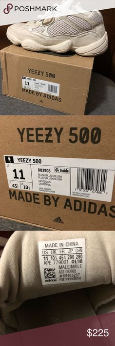 606177b9260a0 Yeezy 500 blush size 11 adidas Kanye west Used a couple of times They have  some