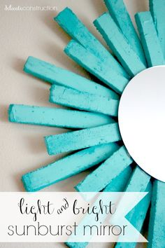 Sunburst mirror made with foam! Super lightweight  and easy to make. #makeitfuncrafts