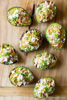 Healthy Grilled Tex Mex Stuffed Avocado Recipe (Low Carb & Gluten Free!) ASpicyPerspective.com