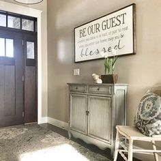 Be our Guest Sign   May you be blessed   Farmhouse Decor   Wall Decor   Be our Guest   Rustic Wood Sign   Foyer   Guest Bedroom Decor