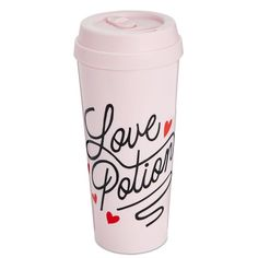 ban.do Hot Stuff Love Potion Thermal Mug (54 ILS) ❤ liked on Polyvore featuring home, kitchen & dining, drinkware, love potion and thermal coffee mugs