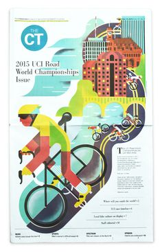 Front page illustration that was run ahead of the 2015 UCI Road World Championships in Richmond.