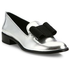Stuart Weitzman Atabow Metallic Leather Loafers (14.495 RUB) ❤ liked on Polyvore featuring shoes, loafers, apparel & accessories, silver specchio, leather slip on loafers, stuart weitzman loafers, slip-on loafers, slip on loafers and loafer shoes #stuartweitzmanloafers
