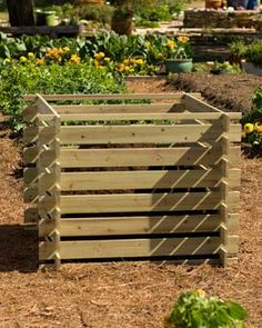 LOVE this composting bin. I wonder could you do the same with wood taken from recycled pallets?