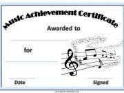 Music Award Certificates