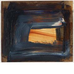 blastedheath: Howard Hodgkin (American, b. Day into Night, Oil on panel, x 53 cm. via killthecurator Famous Abstract Artists, Howard Hodgkin, Gagosian Gallery, Picasso Paintings, Abstract Paintings, Meditation Art, Glasgow School Of Art, Art Archive, Contemporary Paintings