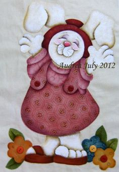 """""""Coelha Mary Helen"""" Pintura Country, Primitive Crafts, Wood Crafts, Animal Books, Cross Stitch Animals, Decoupage, Kids Boxing, Cute Illustration, Easter Crafts"""