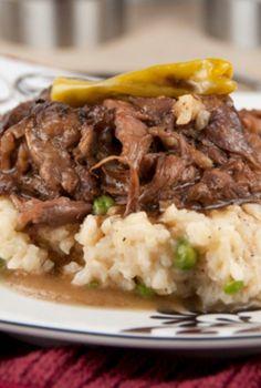 Slow Cooker Mississippi Pot Roast (delish!!)