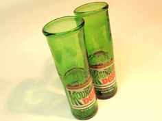 Mountain Dew  Bottle Drinking Glasses.