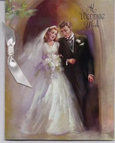 Vintage Wedding Cards Couple 64 New Ideas Vintage Wedding Cards, Vintage Greeting Cards, Wedding Art, Vintage Bridal, Wedding Images, Vintage Postcards, Wedding Couples, Wedding Bride, Dream Wedding