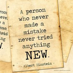 Never Made a Mistake - Albert Einstein Classic Quote Art Print at AllPosters.com