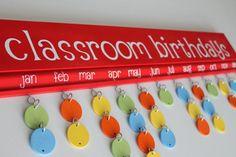 Classroom Birthdays Board