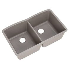 Blanco Diamond Undermount Composite 32 in. Double Bowl Kitchen Sink in Metallic Gray 440183 at The Home Depot - Mobile Blanco Kitchen Sinks, Double Bowl Kitchen Sink, New Kitchen, Kitchen Ideas, Kitchen Redo, Blanco Sinks, Kitchen Updates, Sink Design, Tool Design